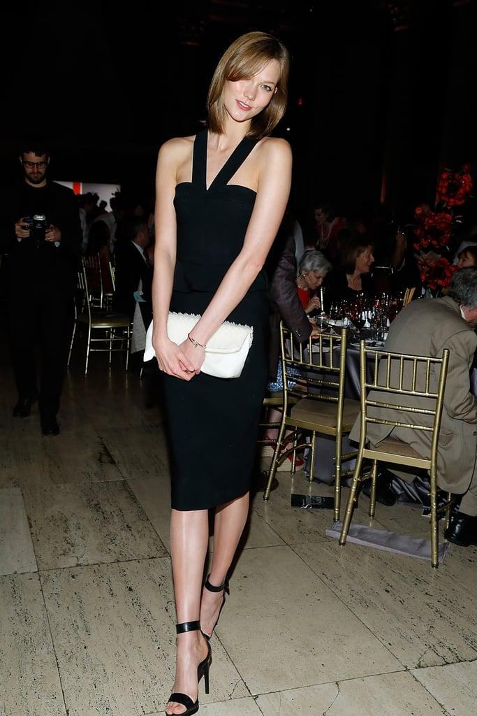Karlie Kloss in a Black Dress