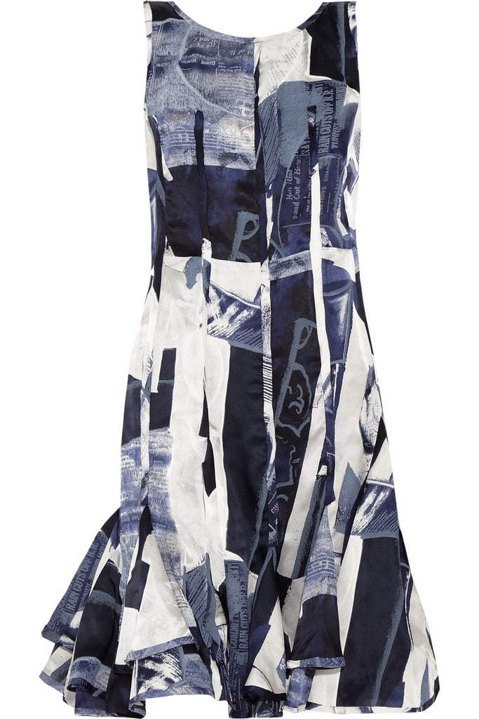 Oscar de la Renta for The Outnet printed silk-satin dress