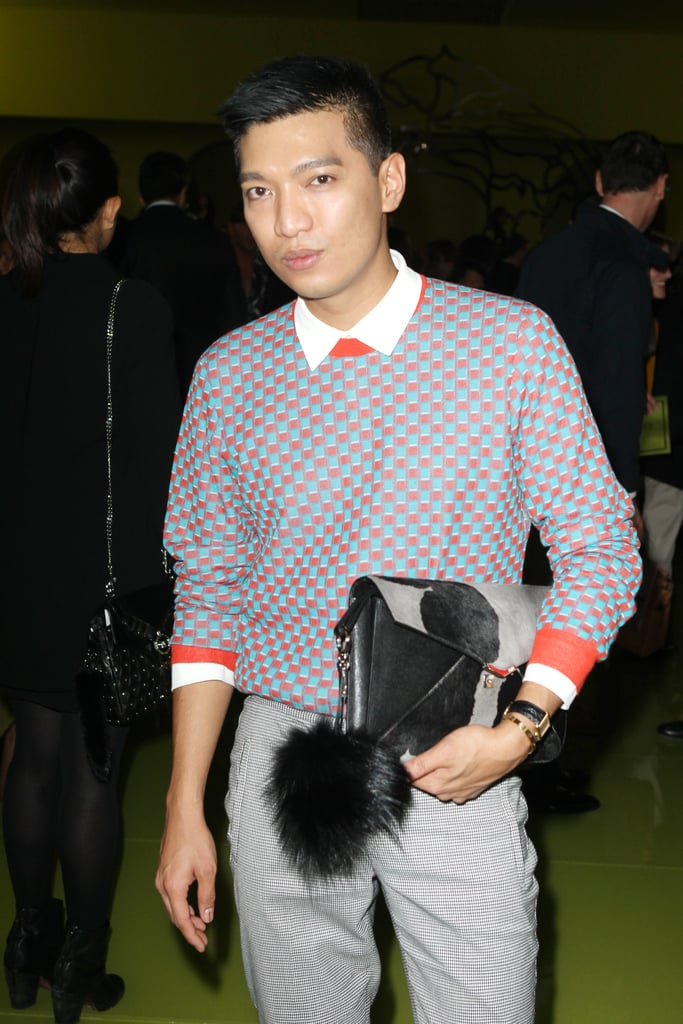 Bryan Boy attended the Versace show on Friday.