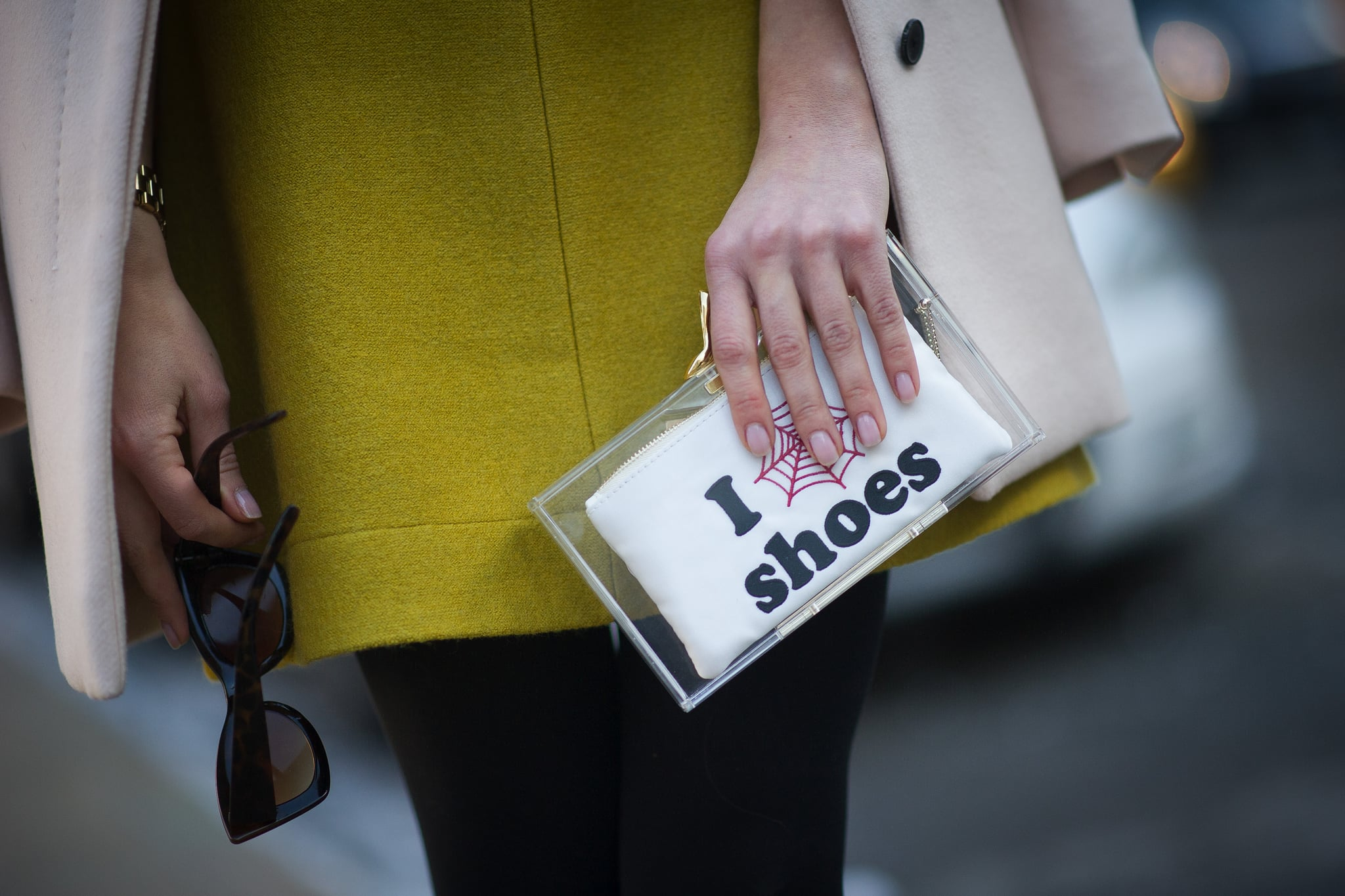 A clutch that says it all.