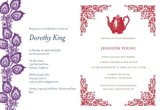 The Card Shop: Papeterie Bridal Shower Invites