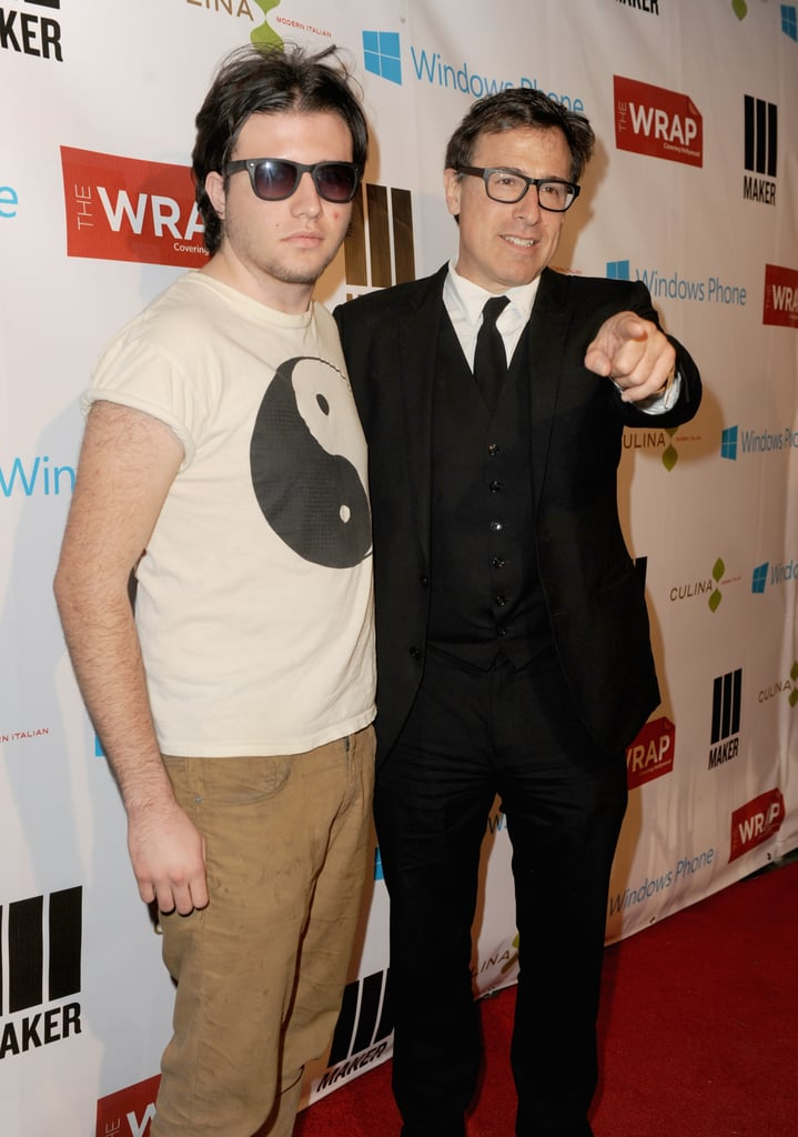 David O. Russell had his son by his side for a pre-Oscars bash in LA on Wednesday night.