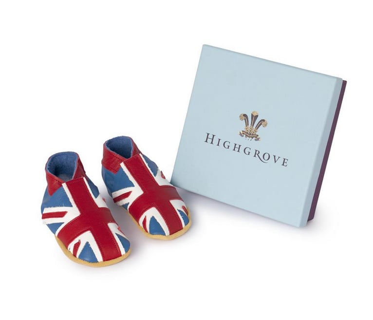 Even Prince Charles is getting in on the royal baby fever, as the shop on his Highgrove country estate is selling handmade Union Flag Baby Shoes ($34) for non- and early walkers.