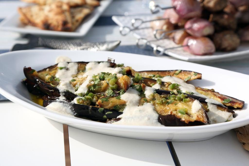 Marinated Eggplant With Tahini