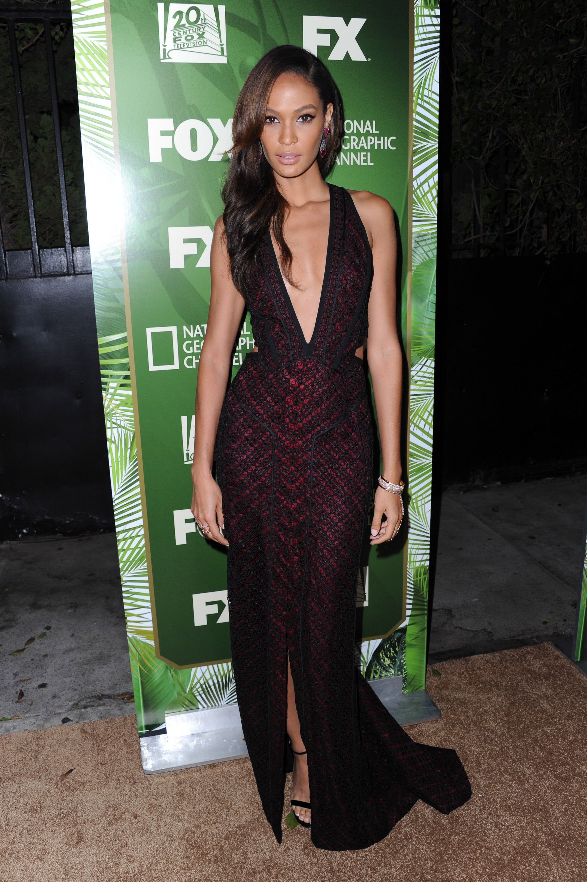 Joan Smalls at the Fox Emmys Afterparty