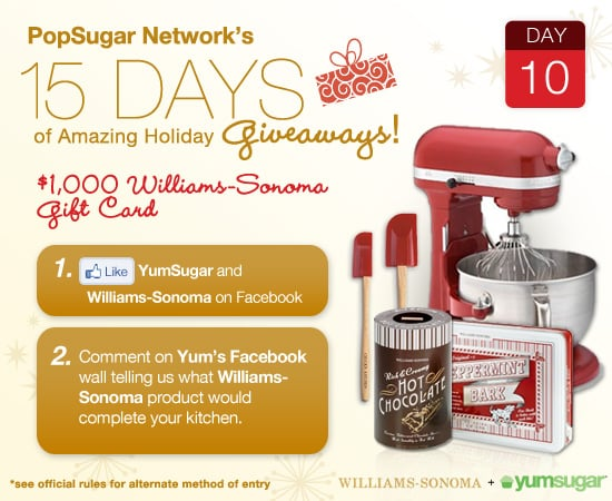YumSugar and Williams Sonoma Holiday Giveaway