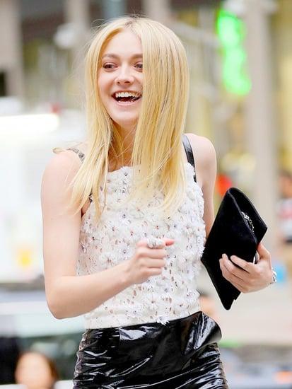 Celebrities Carrying C... Dakota Fanning Instagram