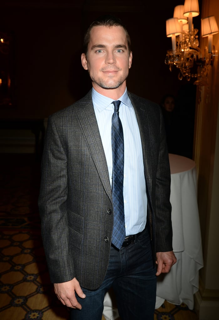Matthew Bomer and his blue eyes arrived at the 2014 Winter TCA.