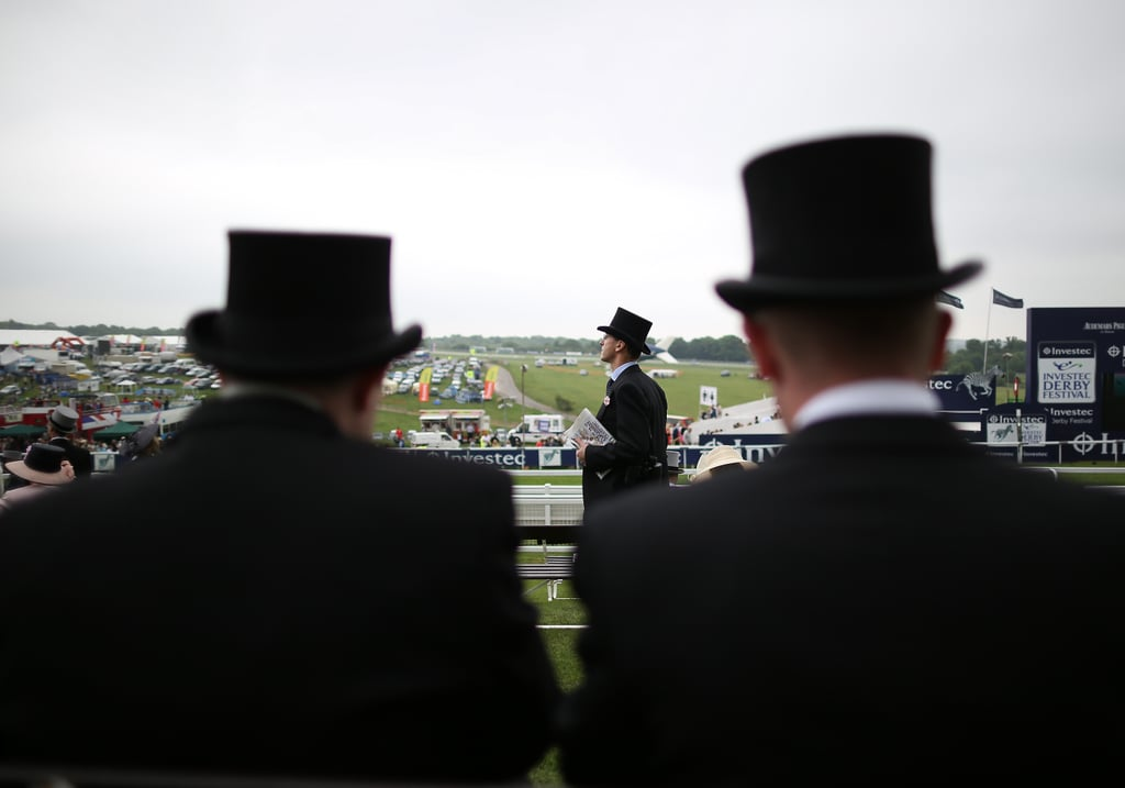 Racegoers waited for the derby to start.