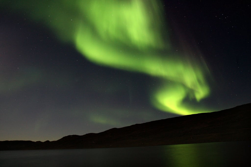 The northern lights brightened the Greenland sky in August 2007.
