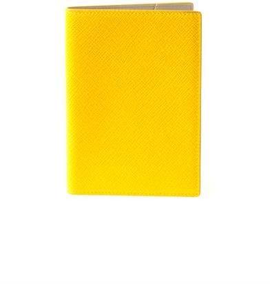 Smythson Panama leather passport cover