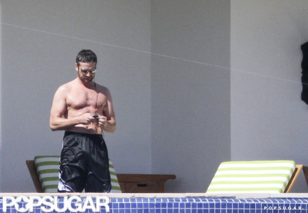 Gerard Butler visited Cabo with Jennifer Aniston and friends in February 2010.