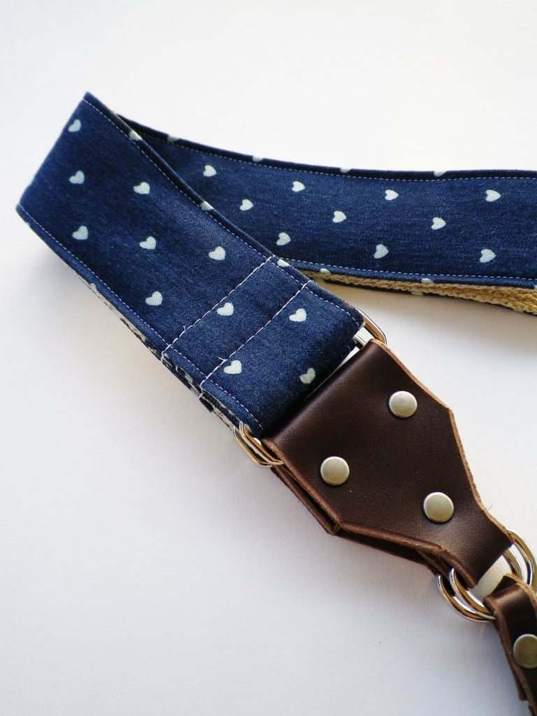 Your favorite shutterbug will love this heart camera strap ($60).