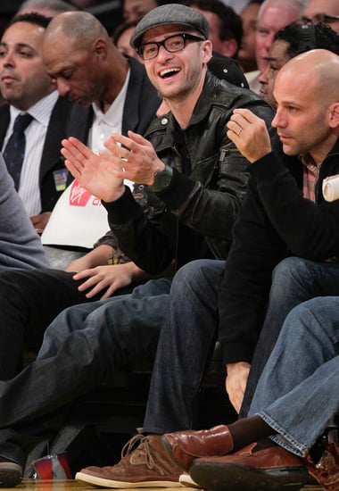Pictures of Justin Timberlake, Khloe Kardashian, and More on Lakers Sideline 2010-11-08 11:00:00