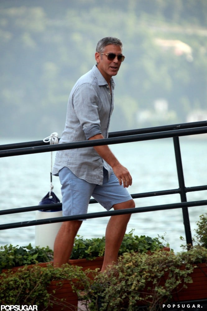 George Clooney and Stacy Keibler Get Back to Boating in Lake Como