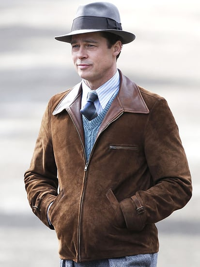 Brad Pitt Cuts a Dashing Figure on the Set of His WWII-Era Drama with Marion Cotillard