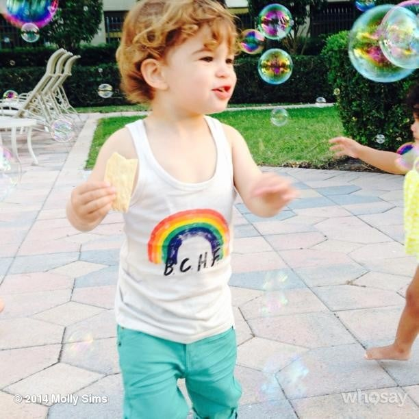 Brooks Stuber got caught up in some bubble magic.  Source: Instagram user mollybsims