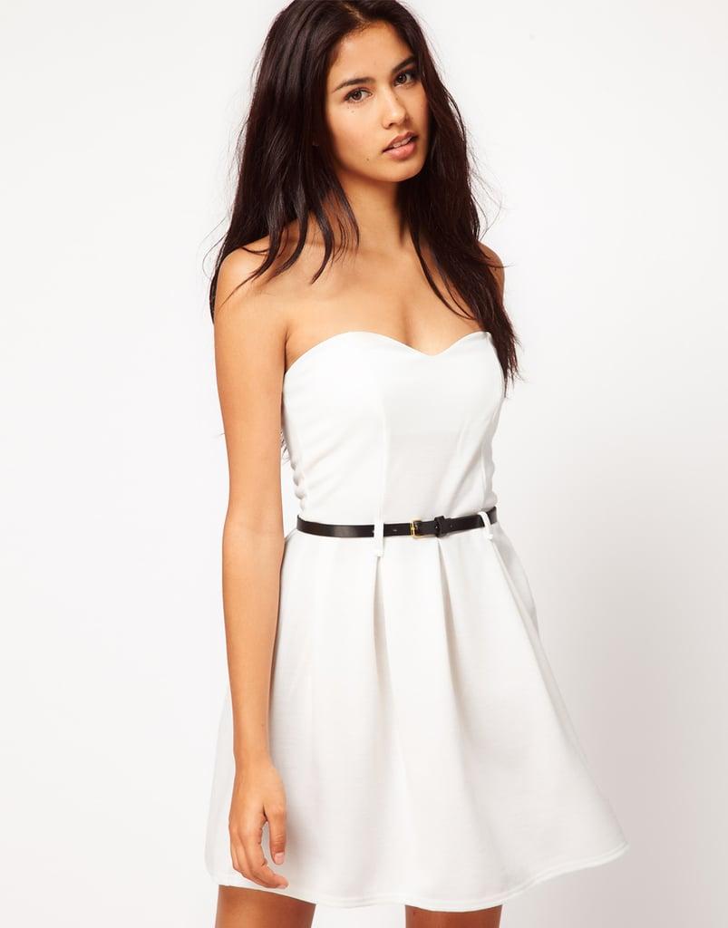 Paprika Strapless Belted Dress ($51)