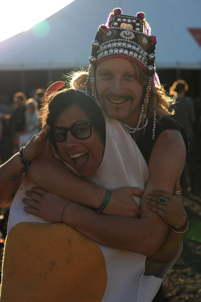 This costumed couple got silly at the Splendour in the Grass Festival in Byron Bay, Australia.