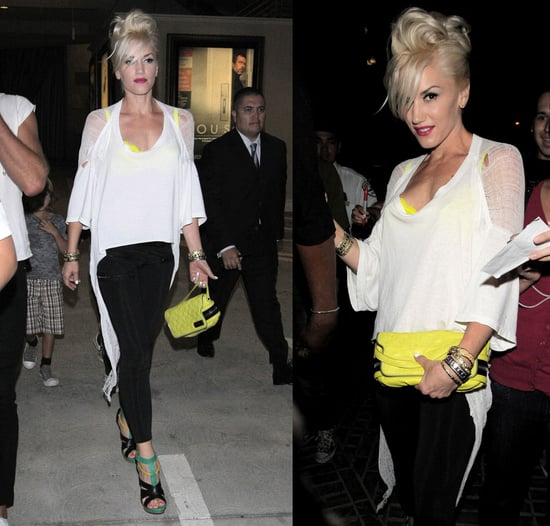 Gwen Stefani Attends Gavin Rossdale's Concert in LAMB Shoes and Shredded Tee