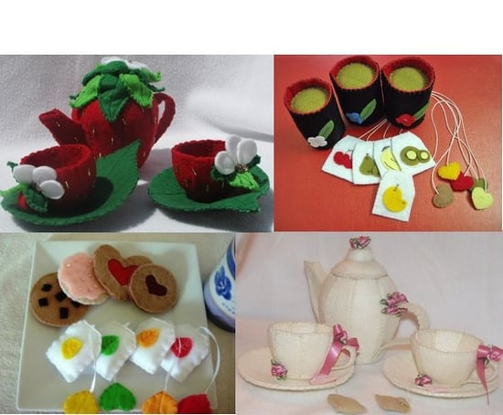 Felt Tea Sets For Kids