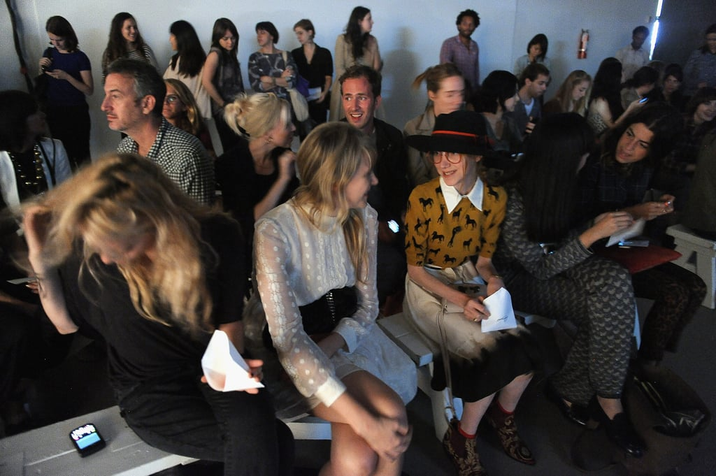 Front Row at Rachel Comey Spring 2012