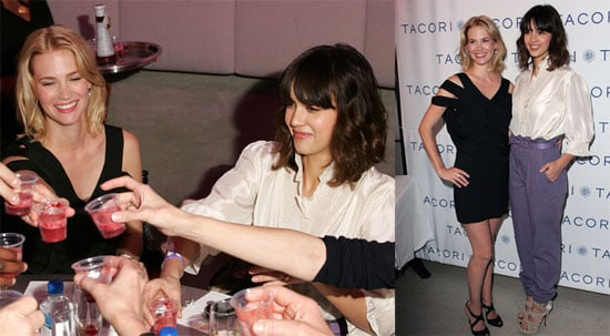 Photos of Jessica Alba and January Jones at Golden Globes Gift Suites
