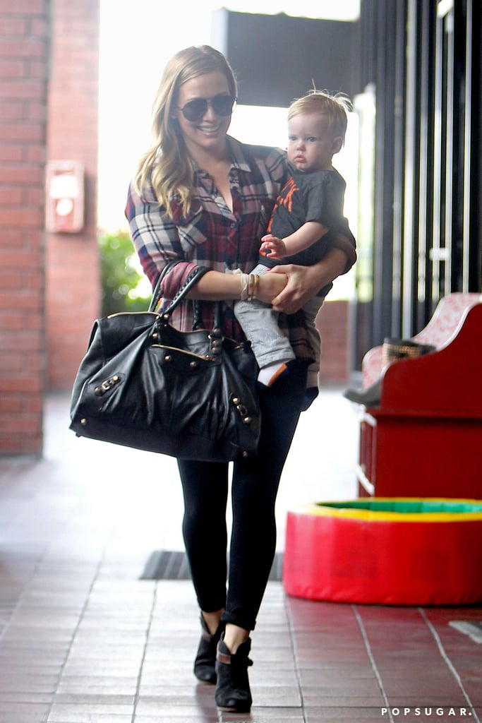 Hilary Duff and her son, Luca Comrie, spent his first birthday at a mommy-and-me class in LA.