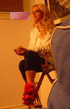 Britney Spears on Set