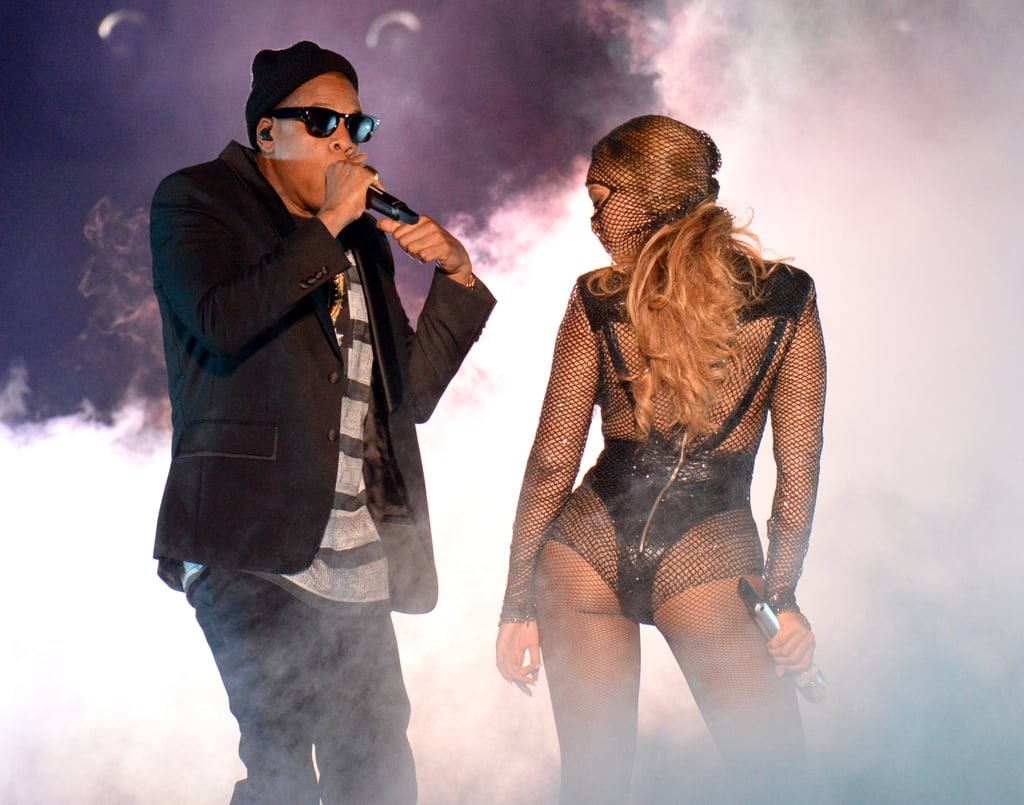 "Source: Getty / Kevin Mazur  June 25: After lying low for a couple weeks, Jay Z and Beyoncé kicked off their On the Run tour in Miami. The couple gave the crowd exactly what they hoped for, showing off lots of hot PDA while performing over 40 of their megahits, as well as footage of their April 2008 wedding during a performance of the song ""Forever Young."" June 27: The couple released a video showing all the intense backstage prep that went into their tour. In it, we also get a glimpse of the couple's sweet PDA — holding hands, hugging, and shooting each other loving glances — before their 2-year-old daughter, Blue Ivy, tells them ""Good job!"" after wrapping their debut concert. June 28: Rumors of trouble in paradise started after their Cincinnati stop, when Beyoncé altered the lyrics to her 2006 song ""Resentment"" during the show. Although she has a history of changing the wording, this particular version features the lyrics ""I gotta look at her in her eyes and see she's had half of me / She ain't even half of me / That b*tch will never be."" The song is clearly about a woman who takes back her cheating lover."