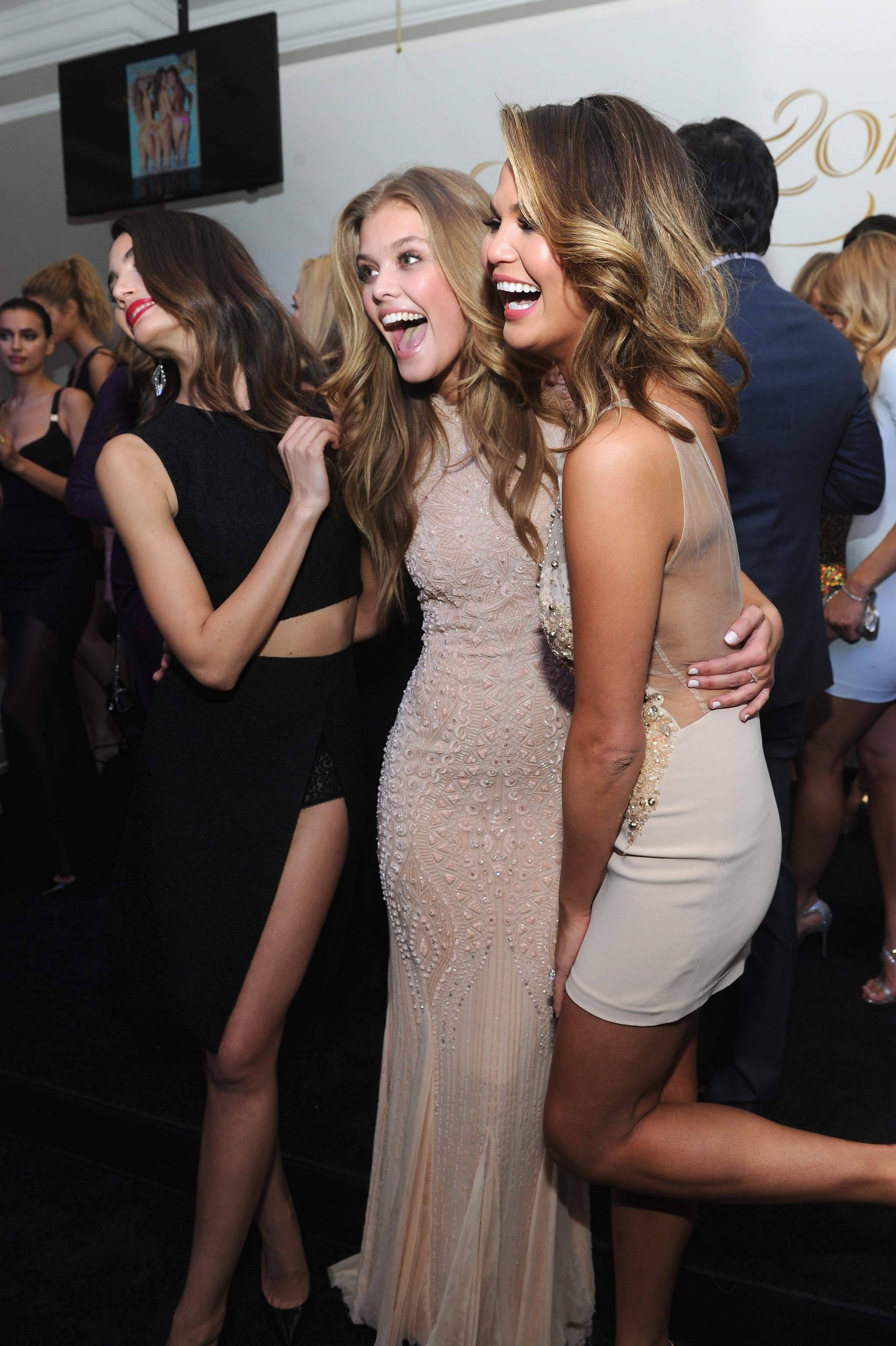 Chrissy, Nina, and Lily couldn't stop laughing.