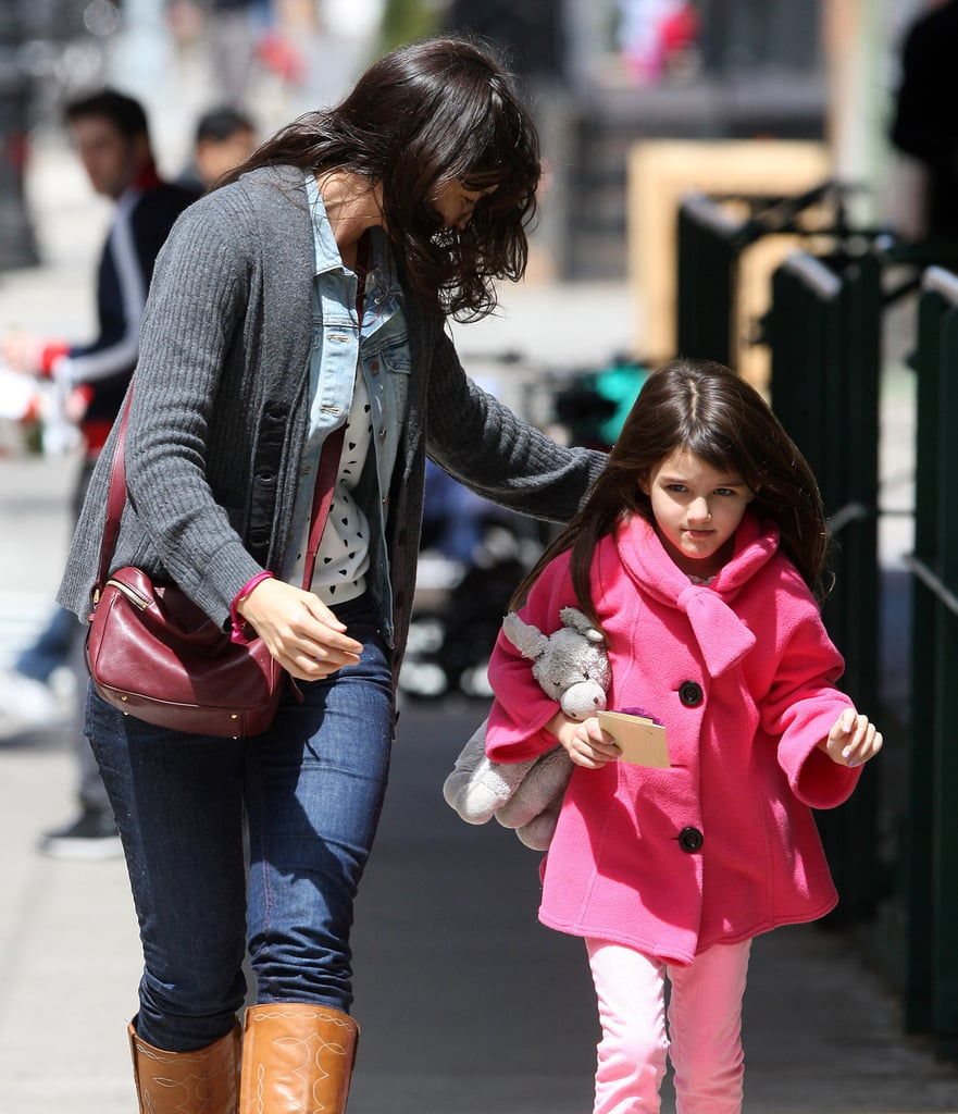 Katie Holmes and Suri Cruise had a girls' day in NYC on Saturday and got their nails done together.