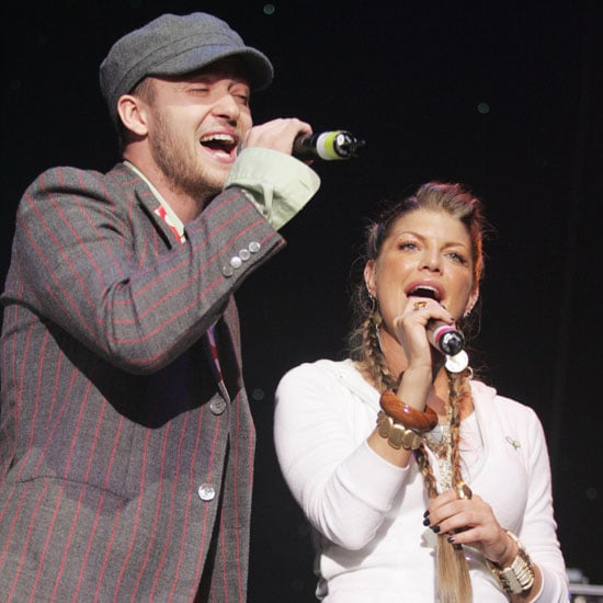 Fergie and Justin Timberlake harmonized during a February 2005 charity concert to benefit tsunami relief in LA.