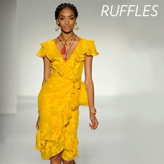Why we love it: The addition of ruffles provides an instantly more feminine, flirty touch. How to wear it: You can wear your ruffles at the neckline, at the hem, or all over — just make sure the dress fits you properly so the ruffle detail hits you in all the right places, accentuating your decolletage rather than hiding it.  Photo: Moschino Spring 2012
