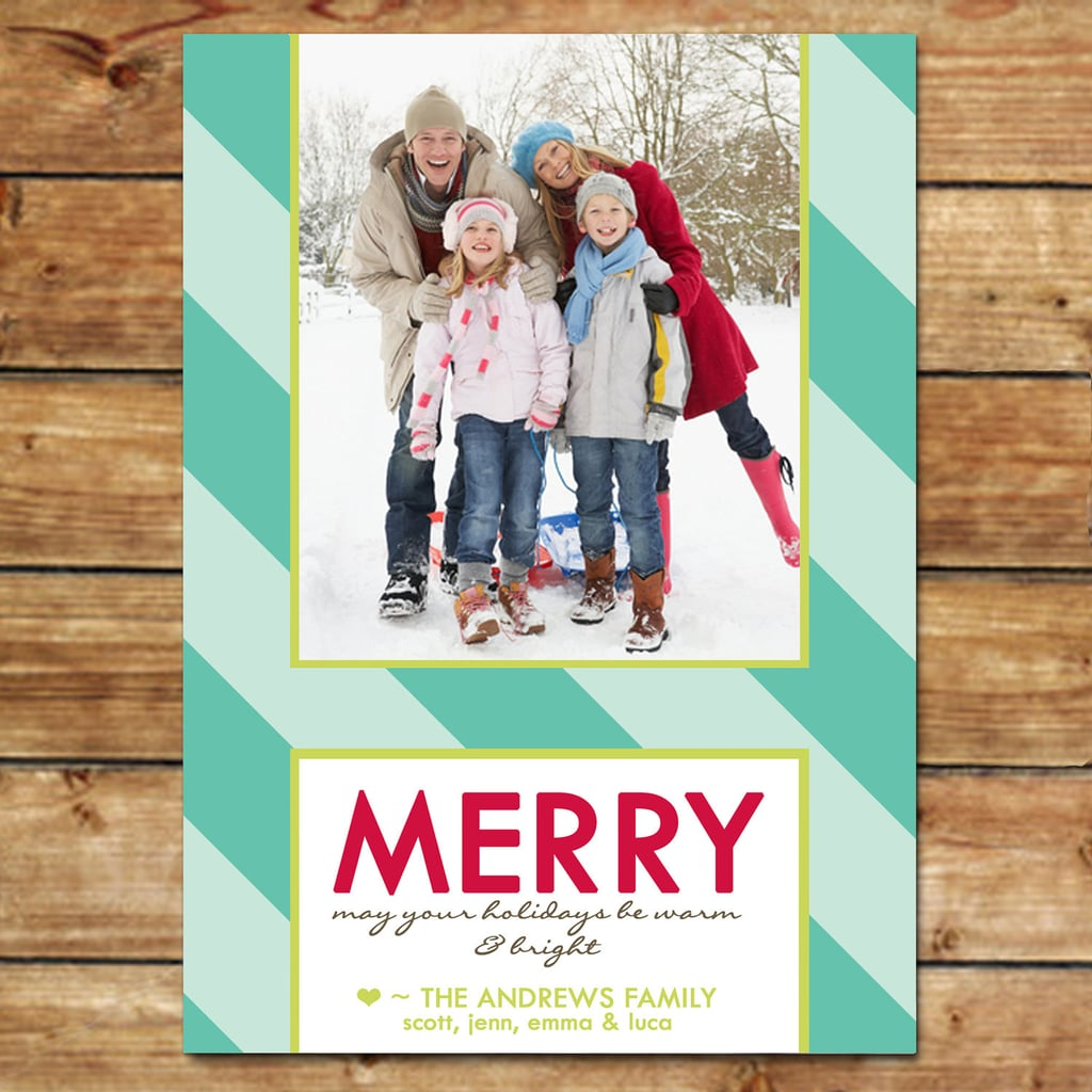 Merry & Bright Photo Holiday Card ($15 For Digital File)