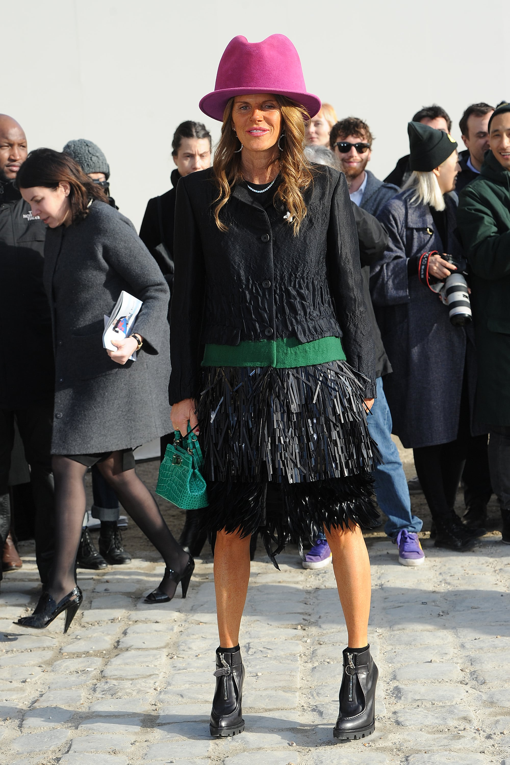 Anna Dello Russo at the Louis Vuitton Show