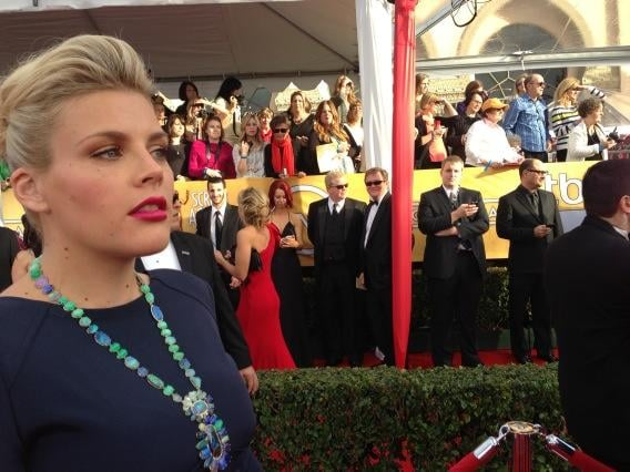 Pregnant Busy Philipps stayed on the lookout for friends. Source: Twitter user Busyphilipps25