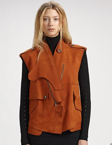 A luxurious investment piece that will just look better over time.  Alexander Wang Suede Vest ($995)