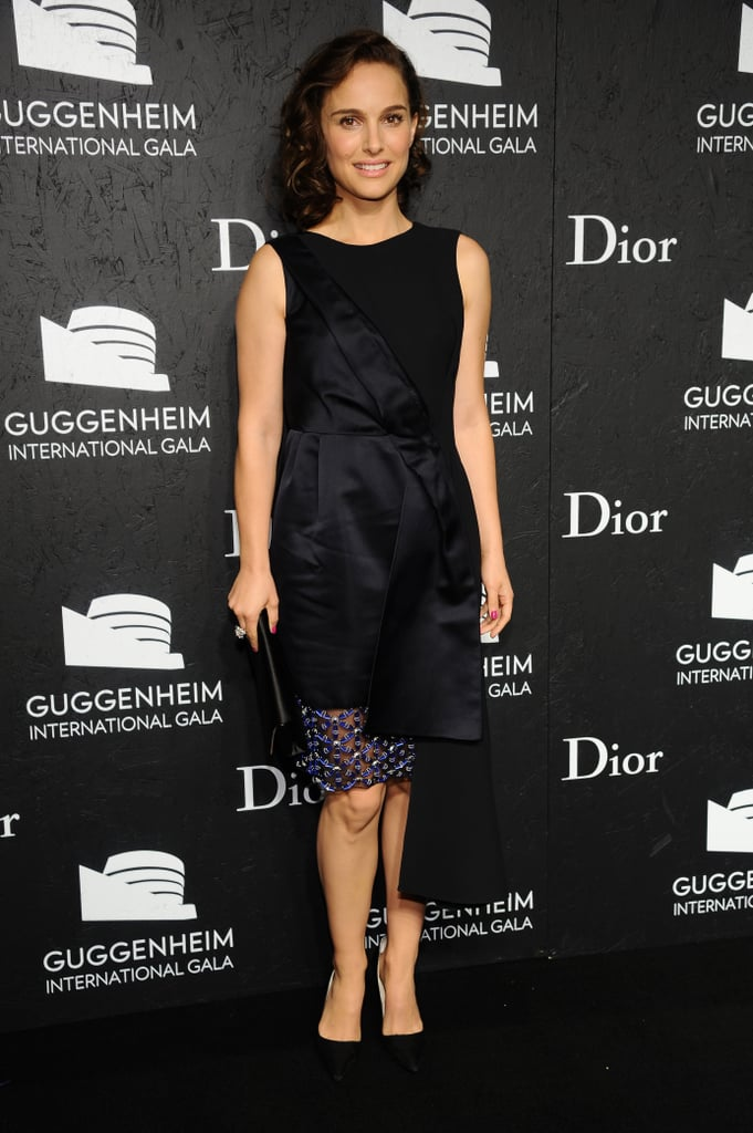 Natalie Portman wore a Dior dress to the Guggenheim International Gala in NYC.