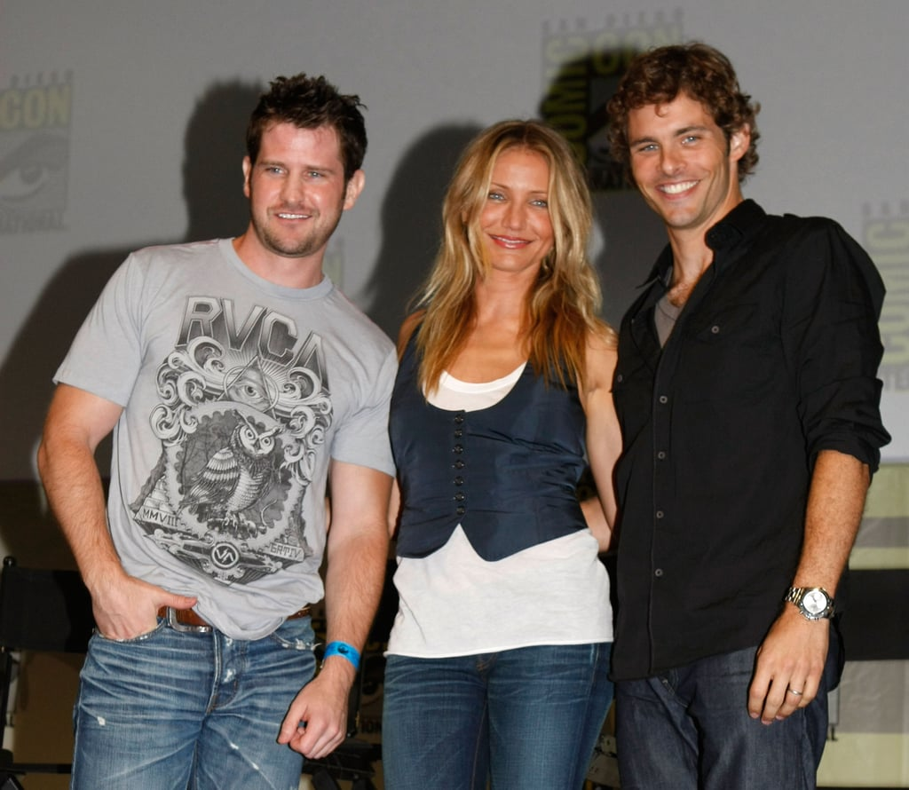 Cameron Diaz stood onstage with costar James Marsden and director Richard Kelly at a panel for The Box back in 2009.
