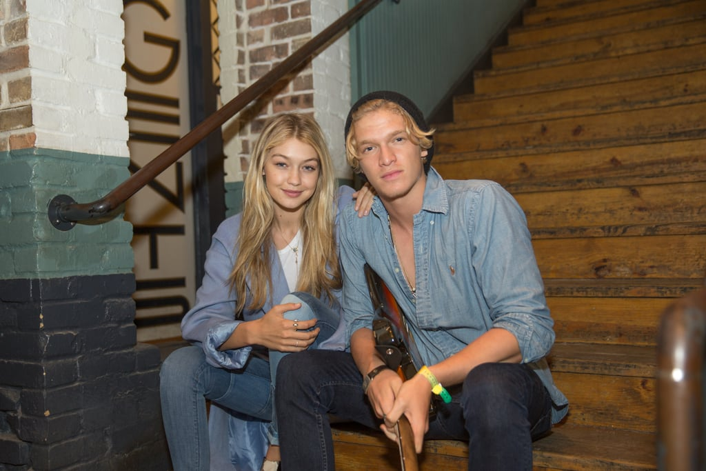 Gigi and Cody coordinated their denim on International Day of Happiness.