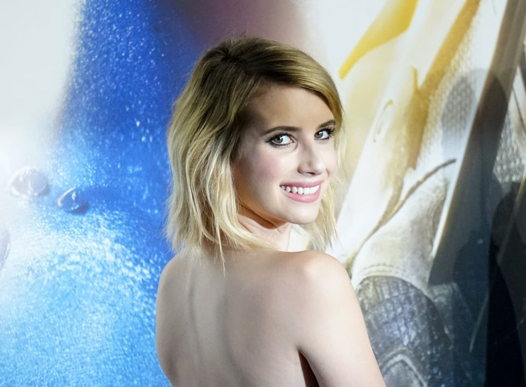 Emma Roberts flashed her megawatt smile.