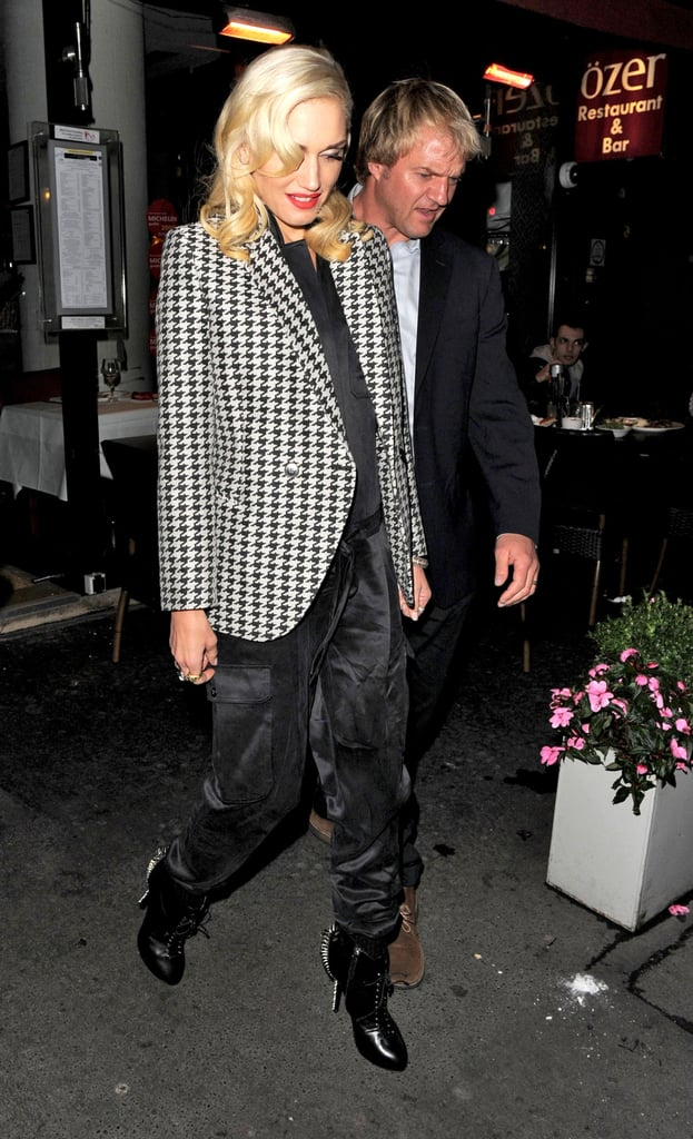 Gwen Stefani went out to dinner in London.