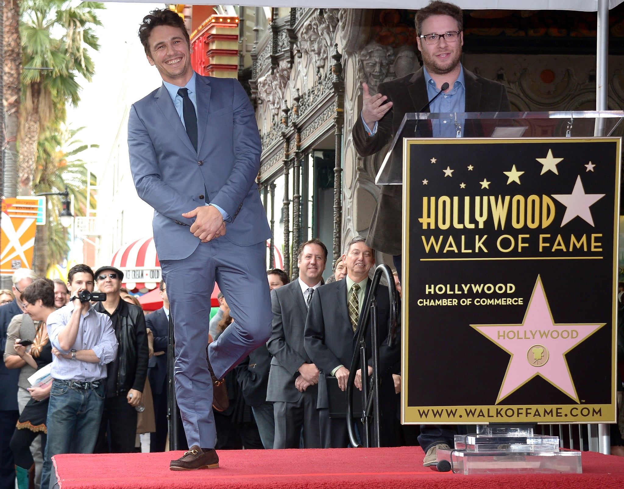James Franco Accepts a Walk of Fame Star With Friends at His Side