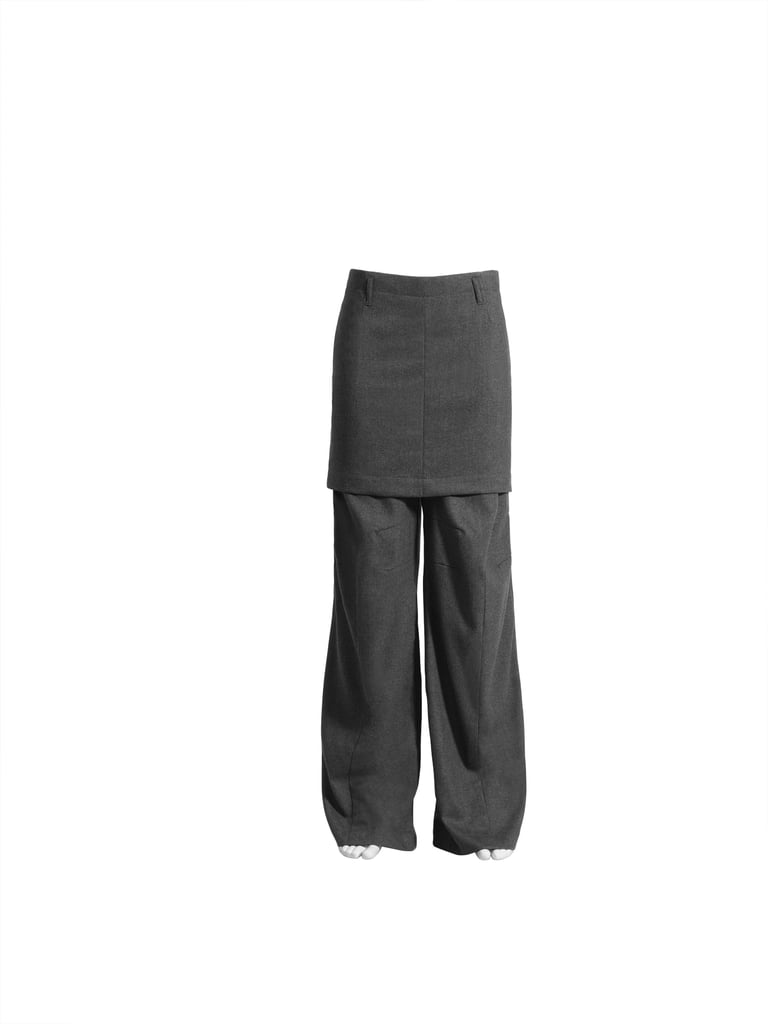 Fusion of skirt and trouser ($99)