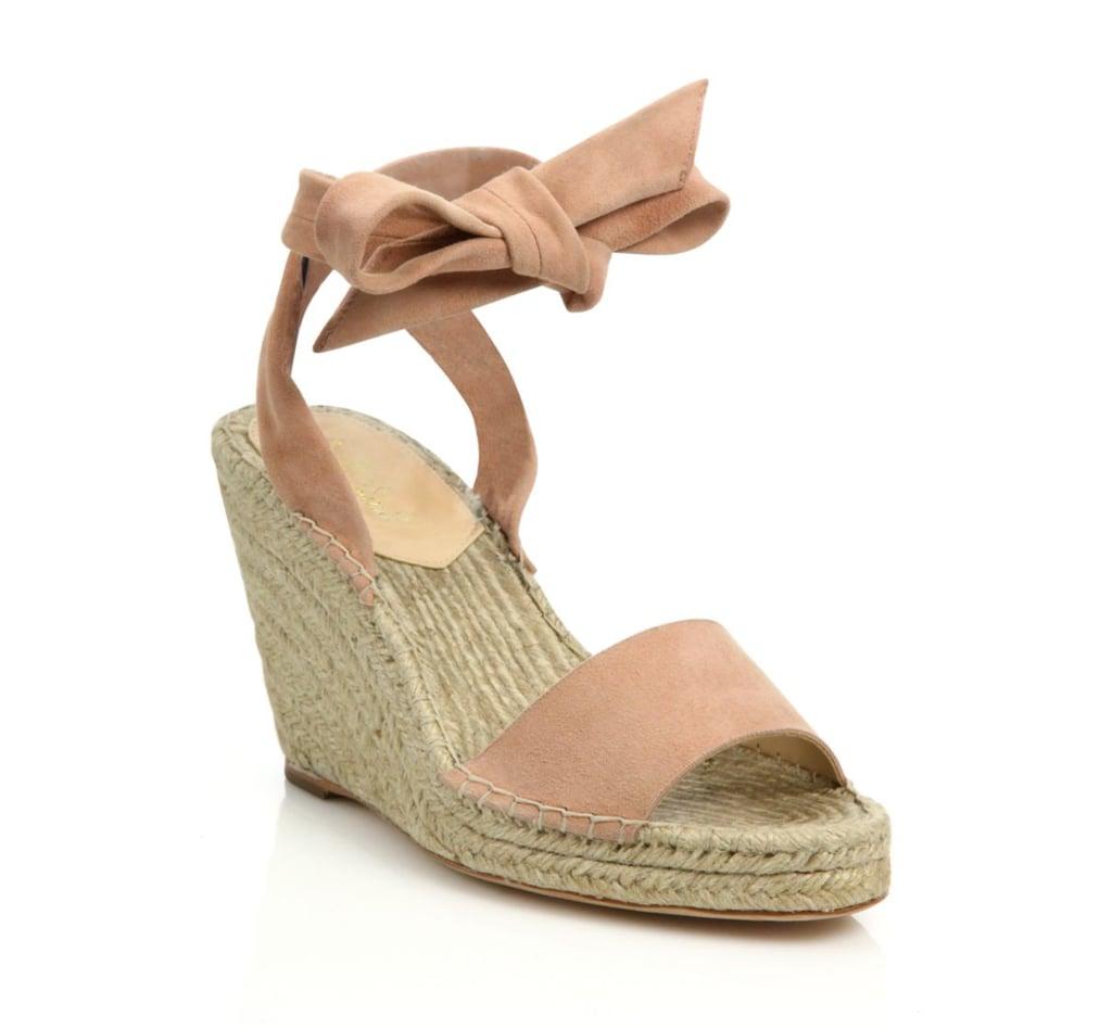 Loeffler Randall Harper Suede Espadrille Wedge Sandals ($295)