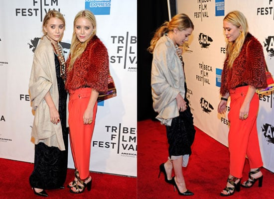 Mary-Kate and Ashley Olsen Attend The Union Premiere in Eclectic-Glam Ensembles