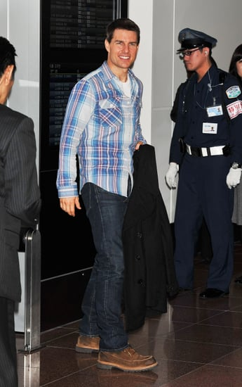 Tom Cruise touched down in Tokyo.