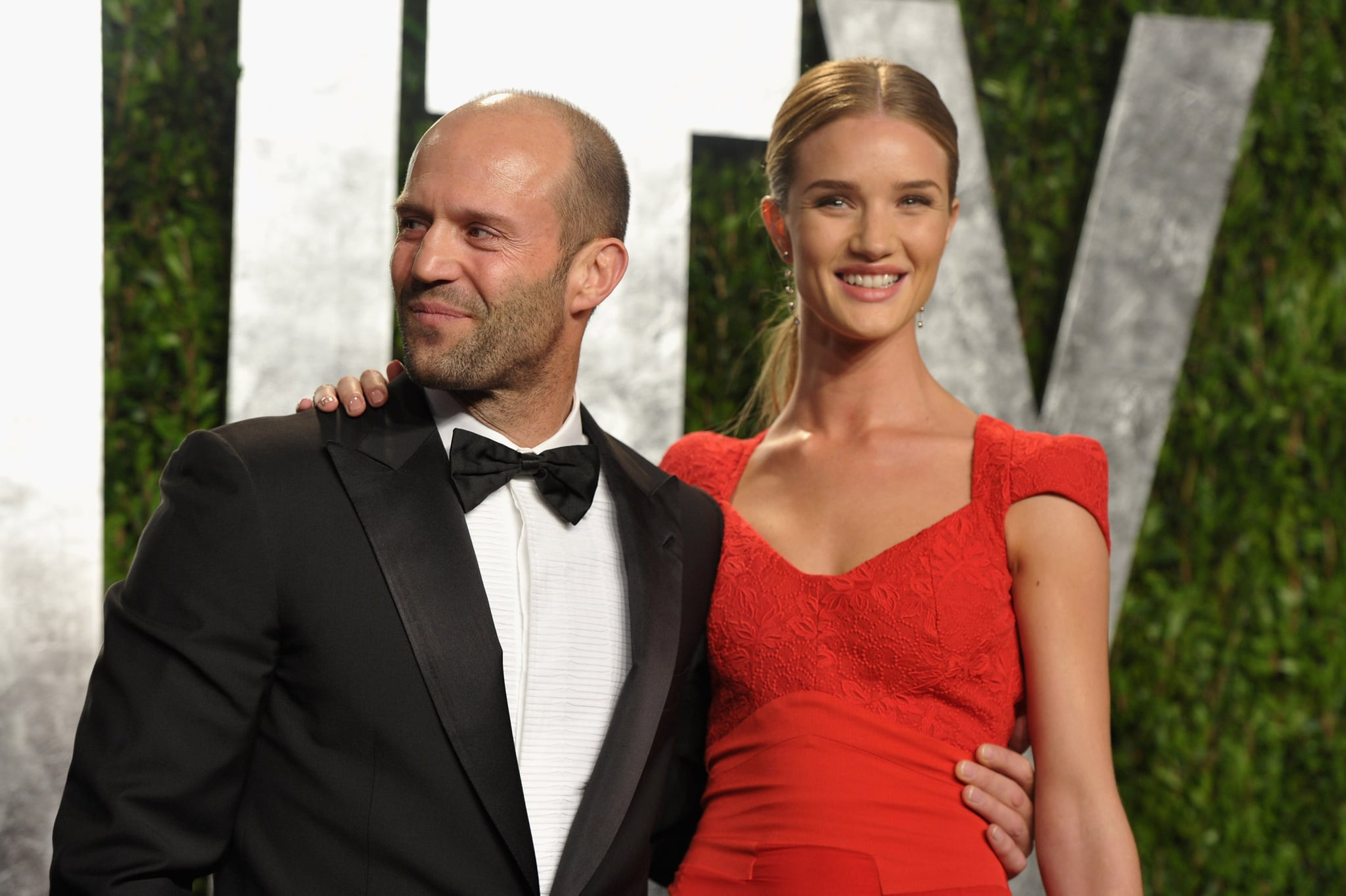 Jason Statham and girlfriend Rosie Huntington-Whiteley at ...