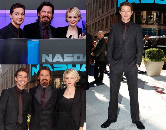 Carey Mulligan, Shia LaBeouf and Josh Brolin Ringing the Bell at the NYSE to Promote Wall Street 2